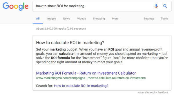 Featured Snippet - VSO